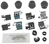 pontiac vibe brake caliper - ACDelco 18K1838X Professional Front Disc Brake Caliper Hardware Kit with Clips, Seals, Bushings, and Lubricant