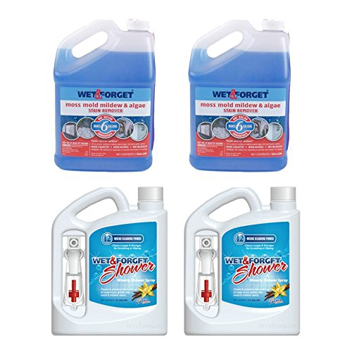 Wet and Forget (2) 64 Oz Weekly Shower Spray, (2) 1 Gallon Moss Mold Remover by WET & FORGET (Image #2)