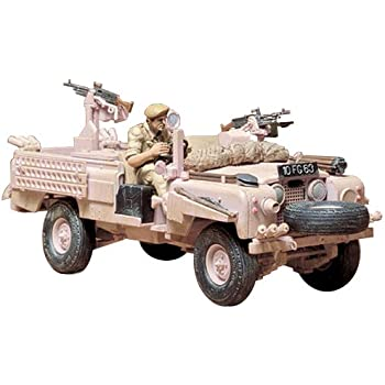 Tamiya 300035076 1: 35 scale WWII British SAS Land Rover, Pink Panther model (1)