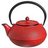 New Star International 40oz Hobnail Cast Iron Teapot (RED)