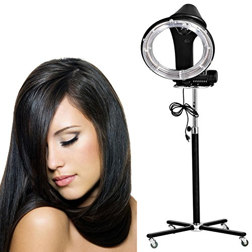 Professional 900W Salon Stand Up Orbiting Infrared Hair Dryer, Portable Rollerball Bonnet Adjustable Rolling Color Processor