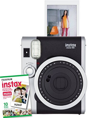 Fujifilm Instax Mini 90 Neo Classic Instant Camera with 10 Exposure Film, Black