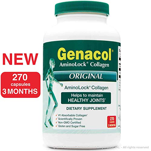 GENACOL Hydrolyzed Collagen Peptides Joint Supplements for Men and Women (270 Capsules) | Grass Fed, Pasture Raised Non-GMO by Genacol