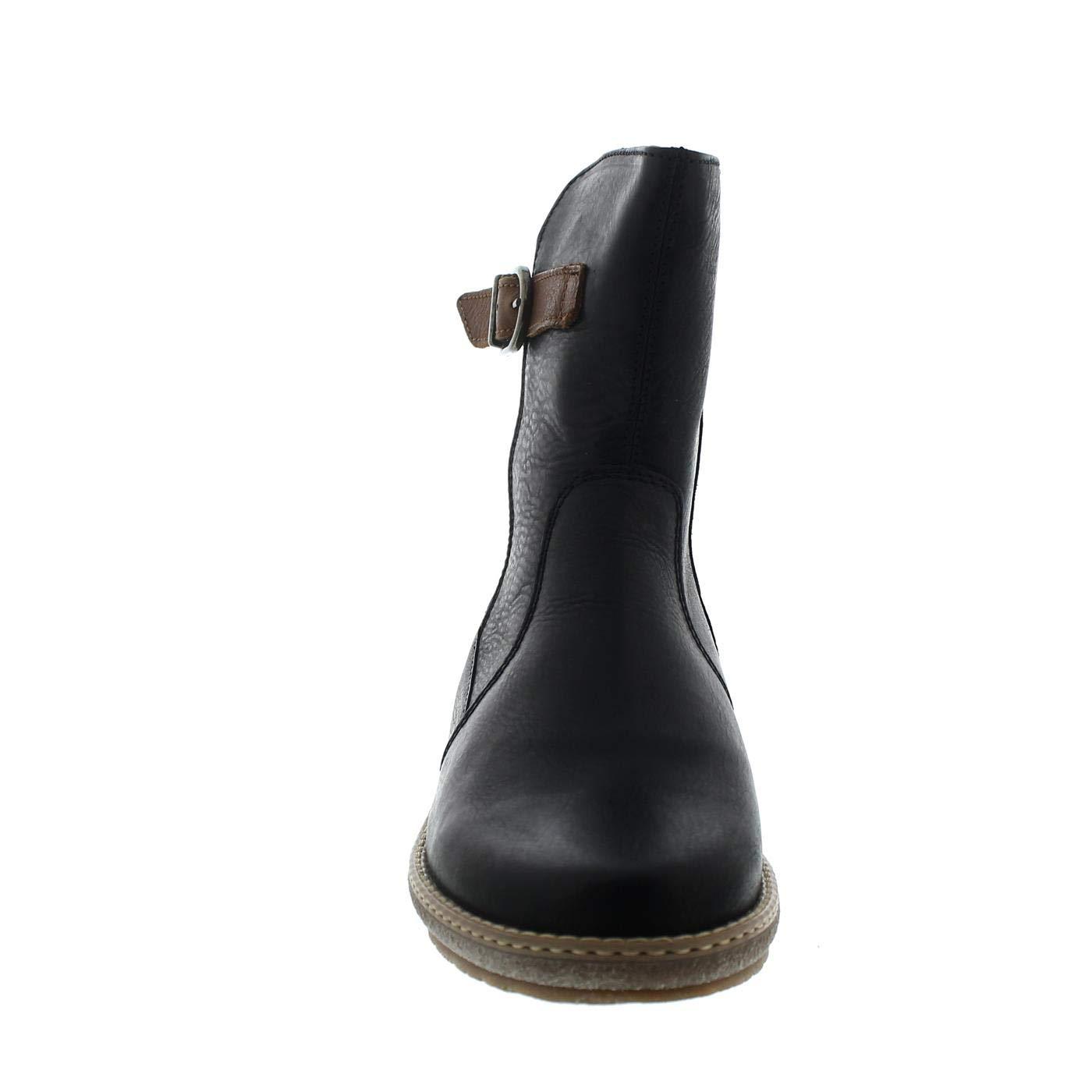 Waldläufer Hoja, Hoja, Hoja, 2X Houston (Glattleder), schwarz Cognac, echt Lammfell, Weite H 533913-201-594 54cf53