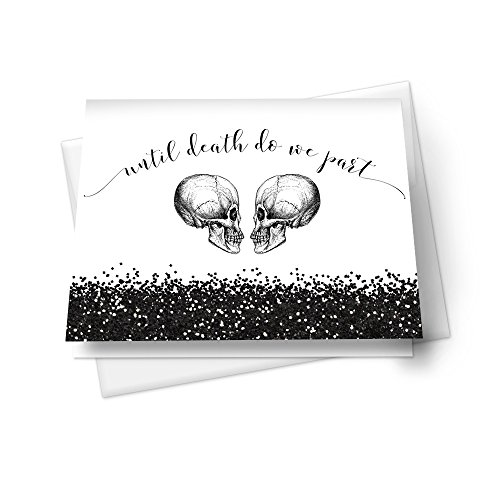 (Skull Wedding Thank You Cards with Envelopes - Set of)