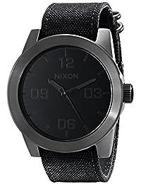 Nixon Men's NXA243001 Classic Analog Stainless Steel Black Dial Watch