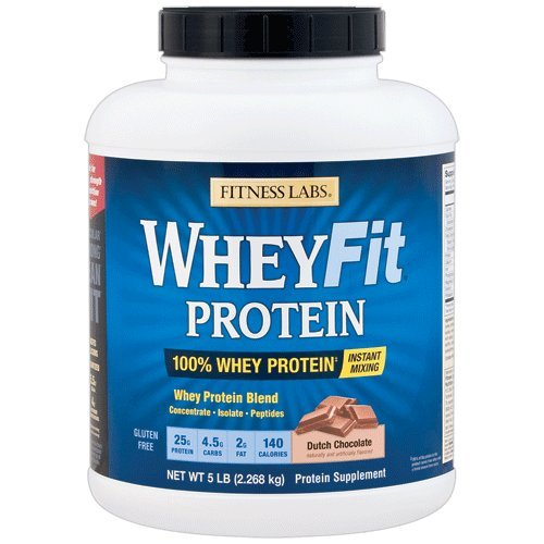 Fitness Labs WheyFit Protein (5 Pounds, Dutch Chocolate) For Sale