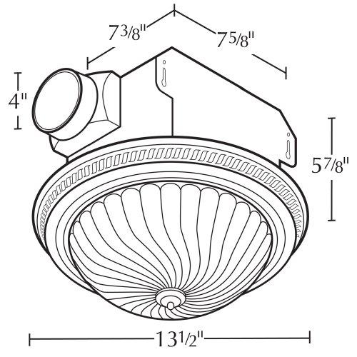 air king drlc701 round bath fan with light  bronze