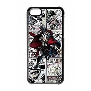 iPhone 5C Phone Case Black Marvel comic HUX317560