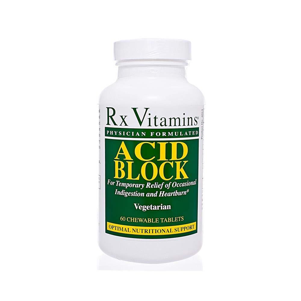 Rx Vitamins Acid Block 60 Chewable Tablets