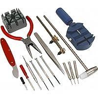 SE JT6221 Juego de herramientas de reparación de relojes de 16 piezas