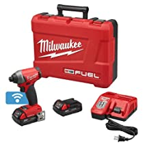 Milwaukee M18 18V Fuel With One-Key 1/4 Inch Hex Impact Driver Kit (2757-22CT)
