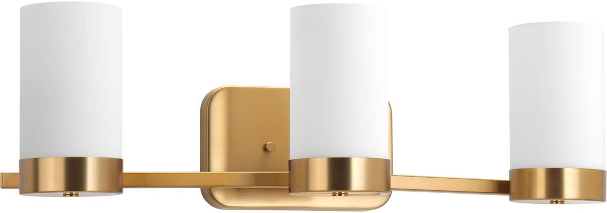Progress Lighting P300022-109 Elevate Collection Three-Light Bath Vanity, Brushed Bronze