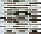 Peel & Impress 11'' x 9.25'' Adhesive Vinyl Wall Tiles, Soft Comfort, Bulk 40 Pack