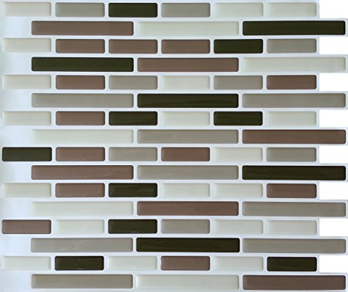 Peel and Impress - Easy DIY Peel and Stick Adhesive Backsplash Tiles, 24012 Soft Comfort, Oblong, 11