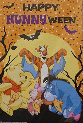 Winnie the Pooh Halloween Decorative Garden Yard Flag - Happy Hunnyween! - 12 x 18