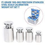 F1 Grade 1kg-5kg Standard Precision Stainless Steel Scale Calibration Weight Set kg Code