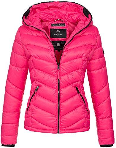 Trapuntata Donna Maniche Basic Marikoo Pink Lunghe Giacca B57SnxwqPR