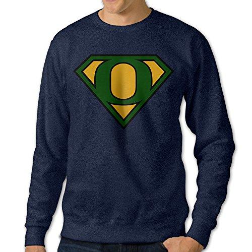 Oregon Duck Mascot Costume (BestGifts Men's Super Oregon Diamond Football Crew Neck Hooded Sweatshirt Navy Size)