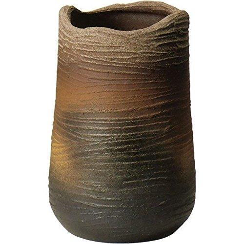 信楽焼 しがらき物語 灰釉コゲひねり傘立(全高44cm×全幅29cm) B075MWG4RV