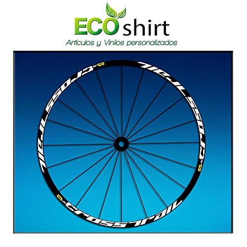 Ecoshirt B0-HDPL-OLV3 Stickers Rim Mavic Crosstrail Bike 27.5