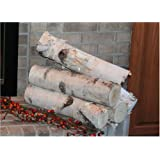 White Birch Log Set For Fireplace Arts Crafts Sewing