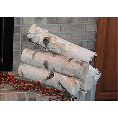Large Birch Fireplace Log Set