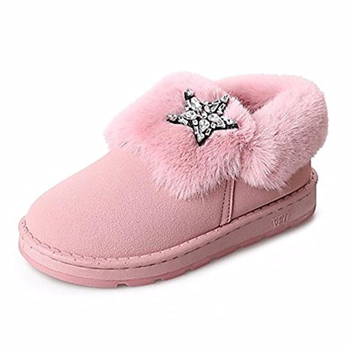 Zhudj Scarpe Donna Winter Snow Boots Stivali Tacco Piatto Punta Tonda Strass Per Casual Party amp; Sera Arrossendo Rosa Grigio Nero rosa us5 5 Eu36 Uk3 5 Cn35