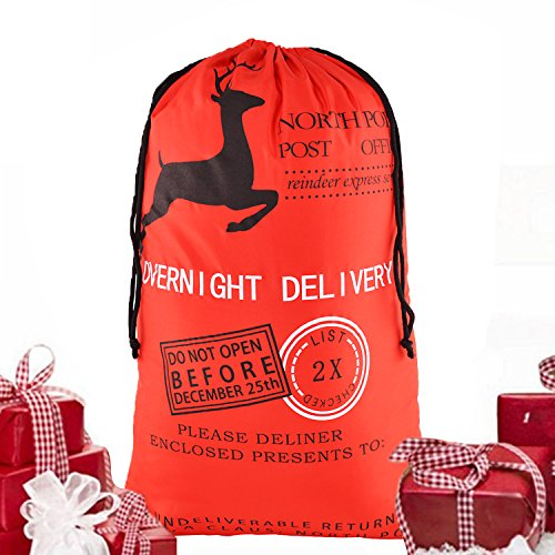 NO.2 BAG 2017 Santa Xmas Gifts For Kids Christmas Santa Sack extra large Christmas Gift Bag with Black drawstring Bag Christmas Present Sack Bags Santa Bags, christmas sacks Reusable Santa Bag 04