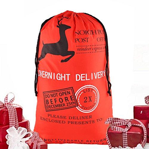 NO.2 BAG 2017 Santa Xmas Gifts For Kids Christmas Santa Sack extra large Christmas Gift Bag with Black drawstring Bag Christmas Present Sack Bags Santa Bags, christmas sacks Reusable Santa Bag 04