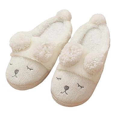 Boomly Zapatillas Casa Mujer Invierno Felpa Antideslizante Caliente Slippers Antideslizante Zapatos Acolchadas Zapatillas De Estar En