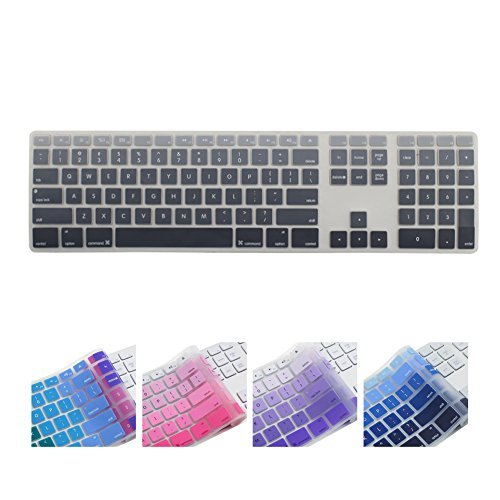 all inside ombre grey keyboard cover for imac wired usb keyboard 11street malaysia keyboards. Black Bedroom Furniture Sets. Home Design Ideas
