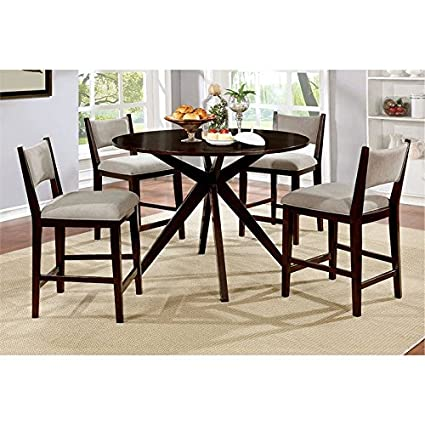 Admirable Amazon Com Furniture Of America Xello 5 Piece Round Counter Gmtry Best Dining Table And Chair Ideas Images Gmtryco