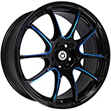 "Konig Illusion Black Ball Cut Blue Wheel (17x7""/5x114.3mm)"