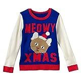 Girls Cat Christmas Sweatshirt (Large)