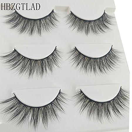 3D Eyelashes Makeup Hand-made Dramatic Thick Natural False Lashes Black Nature Fluffy Long Lashes Soft Reusable 3 Pair Pack - Style 9 SHIDISHANGPIN