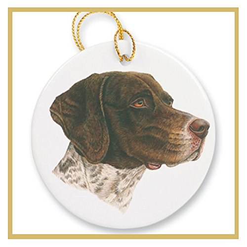 Ornament decorated with a German Shorthaired Pointer Dog