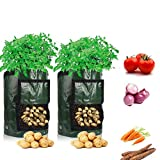 buy Cefrank Potato Grow Bags with Flap, 10 Gallon, 13''×19'', 2 Pack, Durable Fabric Garden Planter Pots now, new 2019-2018 bestseller, review and Photo, best price $29.00