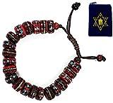 TIBETAN MEDICINE WRIST MALA ~ Yak Bone, Turquoise, Coral, Copper, White Metal, & Brass ~ Healing Bracelet w/ Om Mani Mala Bag ~ Red by KayJayStyles