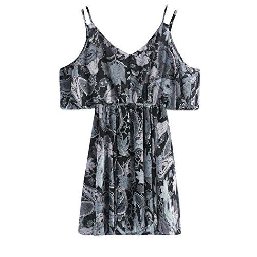 Dress nbsp; Uface V-ausschnitt Schwarz-2 Mit Minikleid Print Princess Damen-kleid Ärmelloses
