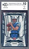 2009 bowman sterling #146a MATTHEW STAFFORD jersey rookie BGS BCCG 10 Graded Card