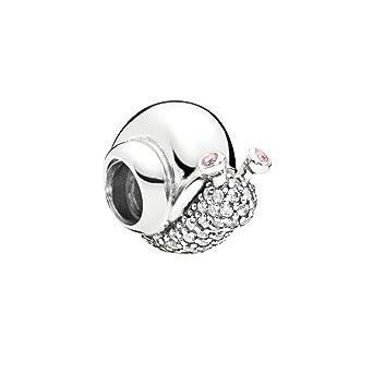 990f2697e Amazon.com: Pandora Sparkling Snail Pink & Silver Charm 797063CZ ...