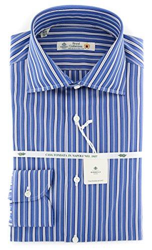 Borrelli New Blue Striped Extra Slim Shirt