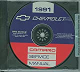 1991 CHEVROLET CAMARO FACTORY REPAIR SHOP & SERVICE MANUAL Standard Camaro Coupe RS Convertible IROC-Z