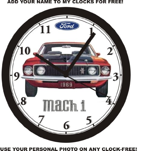 1969 FORD MUSTANG MACH 1 WALL CLOCK-Free USA (Ford Mustang Mach 1)