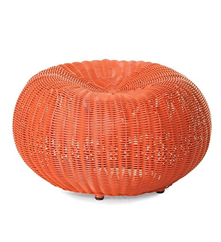 Small Outdoor Wicker Ottoman Pouf 19 189 Quot Dia X 12 Quot H In