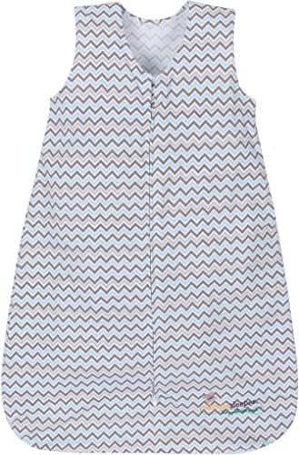 Miracle Blanket Sleeper Wearable Blanket Sack, Blue Chevron, Small (4-9 Months)