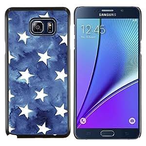 LECELL--Funda protectora / Cubierta / Piel For Samsung Galaxy Note 5 5th N9200 -- Acuarela Bandera Azul estadounidense --