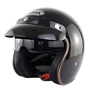 91f6ddcb6de76 Casco de la Motocicleta de la Cara Abierta de la Vendimia