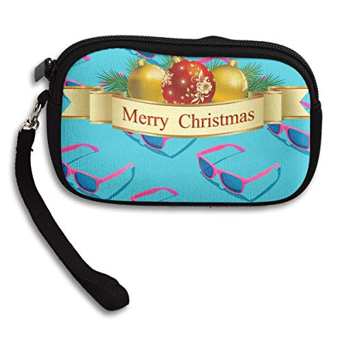 Portable Christmas Purse Bag Receiving Small Deluxe Merry Printing XwpdXI
